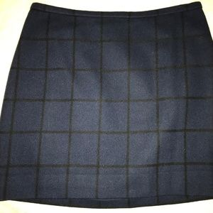 Madewell Blue and Black Plaid Mini Skirt